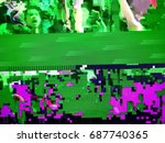 television failure  lcd screen... | Shutterstock . vector #687740365
