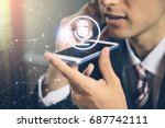 speech recognition concept.... | Shutterstock . vector #687742111