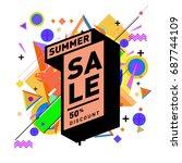 summer sale memphis style web... | Shutterstock .eps vector #687744109