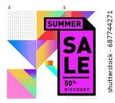 summer sale memphis style web... | Shutterstock .eps vector #687744271