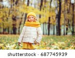 Funny Autumn Portrait Of Happy...