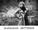 young fashion blond woman... | Shutterstock . vector #687750604