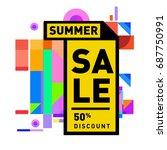 summer sale memphis style web... | Shutterstock .eps vector #687750991