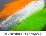 indian flag tricolors splashed... | Shutterstock . vector #687752089