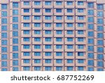 abstract pattern of window on... | Shutterstock . vector #687752269