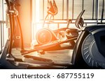 fitness hall with the sport... | Shutterstock . vector #687755119