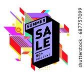 summer sale memphis style web... | Shutterstock .eps vector #687757099