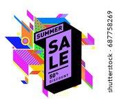 summer sale memphis style web... | Shutterstock .eps vector #687758269