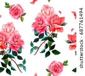 seamless background pattern... | Shutterstock . vector #687761494