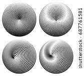 set of vector round elements... | Shutterstock .eps vector #687761581