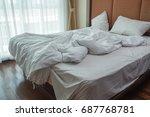 morning sunlight falling on the ... | Shutterstock . vector #687768781