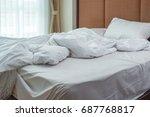 morning sunlight falling on the ... | Shutterstock . vector #687768817