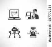 robotics and artificial... | Shutterstock .eps vector #687771355