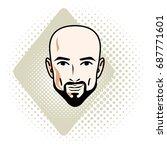 man face  human head. vector... | Shutterstock .eps vector #687771601