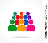 illustration of people icon on...   Shutterstock .eps vector #687774961