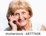 a portrait of a pretty senior... | Shutterstock . vector #68777608