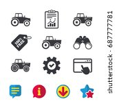 tractor icons. agricultural...