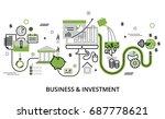 modern flat thin line design... | Shutterstock .eps vector #687778621