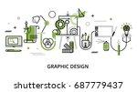 modern flat thin line design...   Shutterstock .eps vector #687779437
