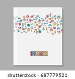 cover report summer symbols and ...   Shutterstock .eps vector #687779521