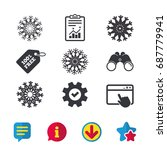 snowflakes artistic icons. air...
