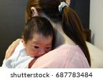 Small photo of After breastfeeding,Burp,Belch,Mother,Maternity hospitalization,1 days after birth