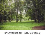 park in the city center in... | Shutterstock . vector #687784519