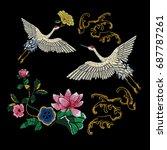 embroidery oriental folk... | Shutterstock .eps vector #687787261