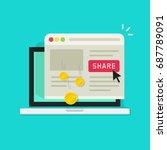 affiliate marketing concept... | Shutterstock .eps vector #687789091