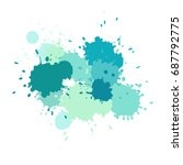 watercolor splashes. paint... | Shutterstock .eps vector #687792775