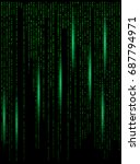 matrix digital background... | Shutterstock .eps vector #687794971
