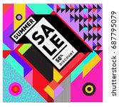 summer sale memphis style web... | Shutterstock .eps vector #687795079