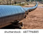 construction of gas pipeline... | Shutterstock . vector #687796885