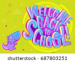 vector illustration of welcome... | Shutterstock .eps vector #687803251