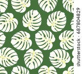 seamless pattern of white... | Shutterstock . vector #687804829