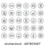 venture capital  investments ... | Shutterstock .eps vector #687805687