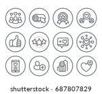 likes  followers  hearts ... | Shutterstock .eps vector #687807829