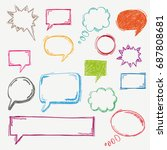 handdrawn colored speech... | Shutterstock .eps vector #687808681