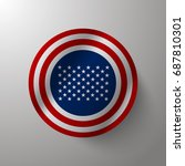 american flag inlay on shield... | Shutterstock .eps vector #687810301