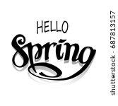 vector card with handwritten... | Shutterstock .eps vector #687813157