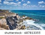 rocky coastline of south end ...   Shutterstock . vector #687813355