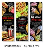 fast food banners for... | Shutterstock .eps vector #687815791
