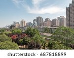 xian in china view from rampart.... | Shutterstock . vector #687818899