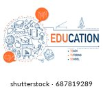 education icons collection... | Shutterstock .eps vector #687819289