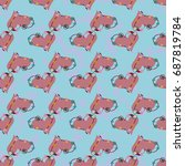 new colorful seamless pattern... | Shutterstock . vector #687819784