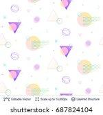 vector multicolored geometric... | Shutterstock .eps vector #687824104