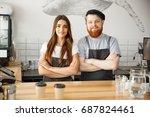 coffee business concept  ... | Shutterstock . vector #687824461
