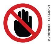 do not touch sign | Shutterstock .eps vector #687826405