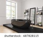 3d rendering. classic luxury... | Shutterstock . vector #687828115