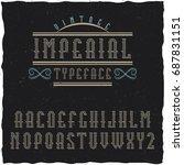 original label typeface called '...   Shutterstock .eps vector #687831151